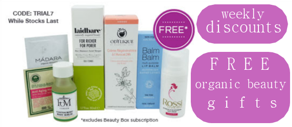 Weekly Discounts and Free Organic Beauty Gifts #50