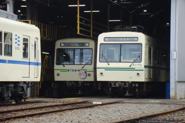2016/01 叡山電車711号車と723号車