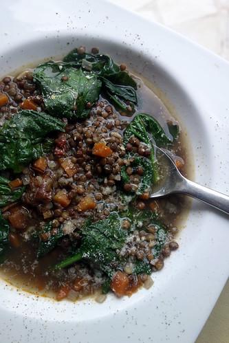 soupe de lentilles et épinards1