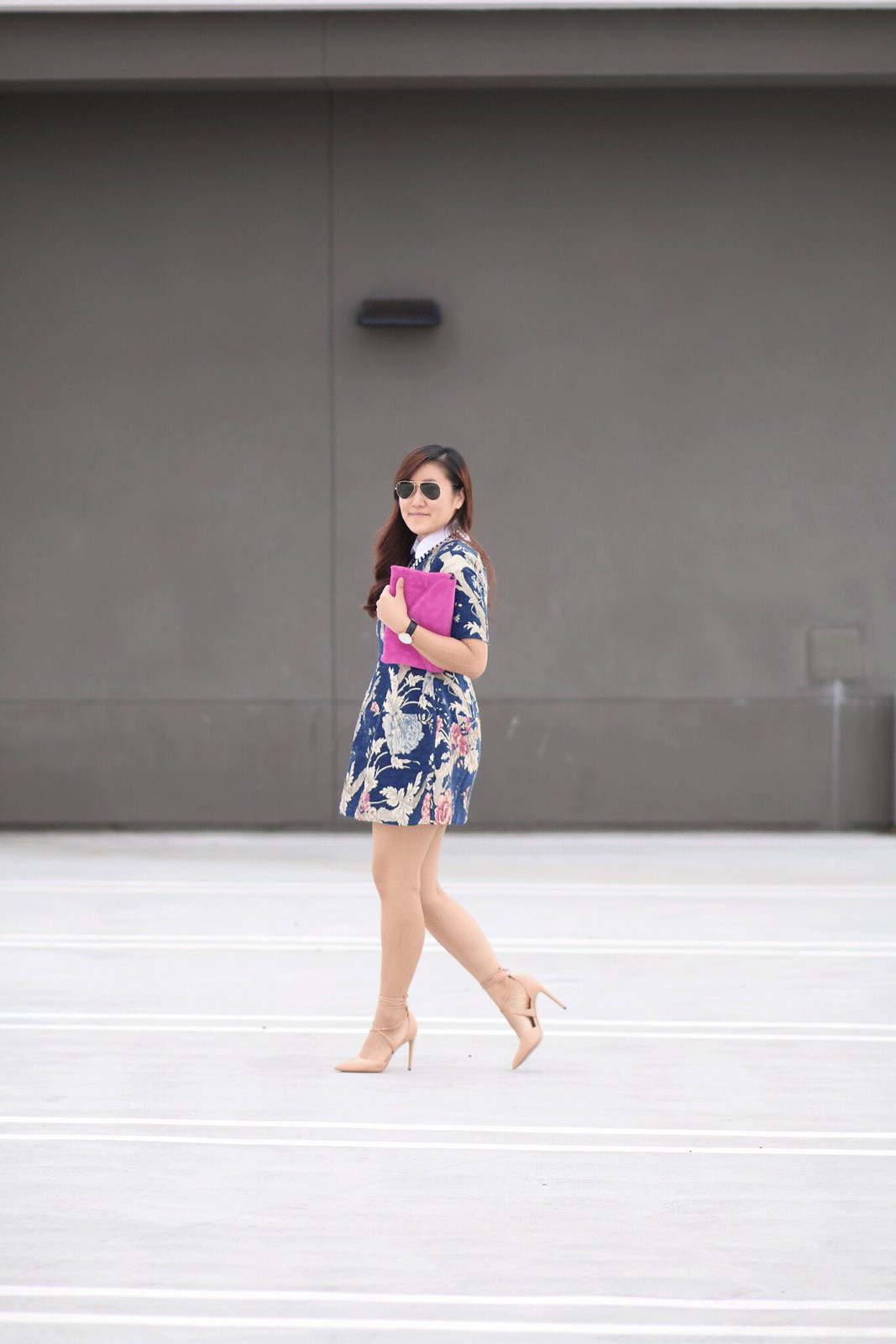 simplyxclassic, style, mom blog, blogger, fashion, style, floral dress, chichwish, asian, korean, lifestyle, orange county, blog, steve madden nude heels, pink clutch, fall outfit, southern california,