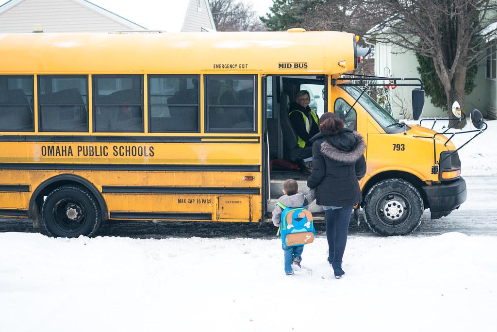 Micah rides the bus