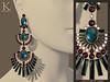 (Kunglers) Shani earrings V3- opal