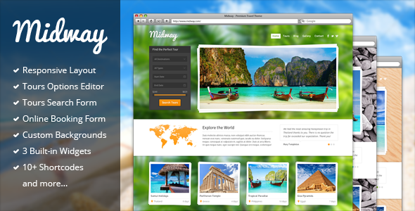 Midway v3.11 - Responsive Travel WP Theme