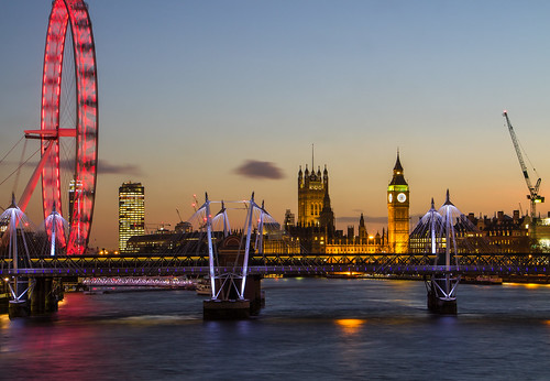 bigben clouds crane england jubileebridge london londoneye longexposure matthewbiddle sunset thames uk