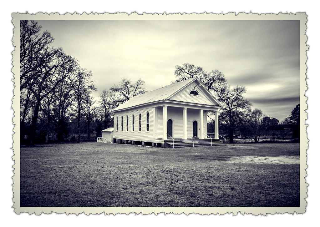 Spann Methodist Vintage B&W photo