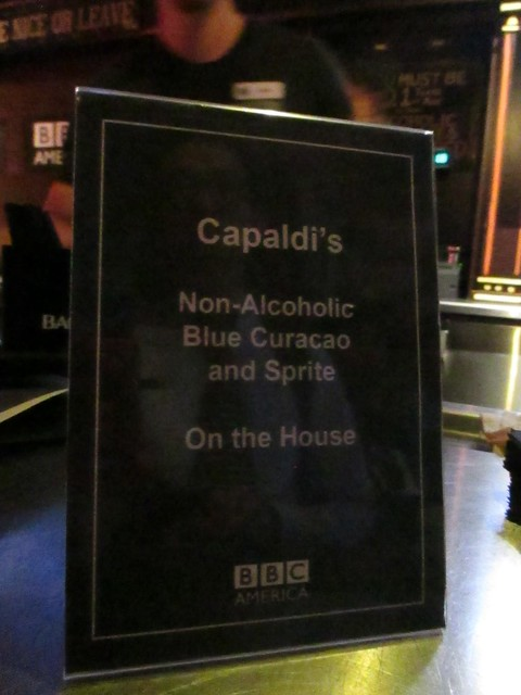 Capaldi's blue drink on the house by Peter Lee