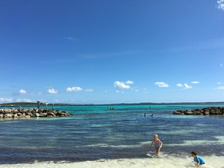 Image of Coco Cay Beach Beach with a length of 1248 meters.