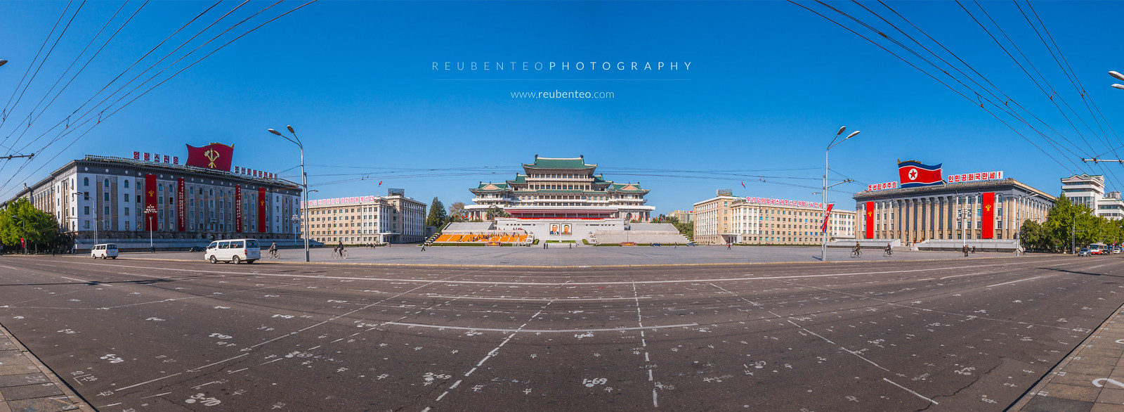 Kim Il Sung Square view of Grand People's Study House