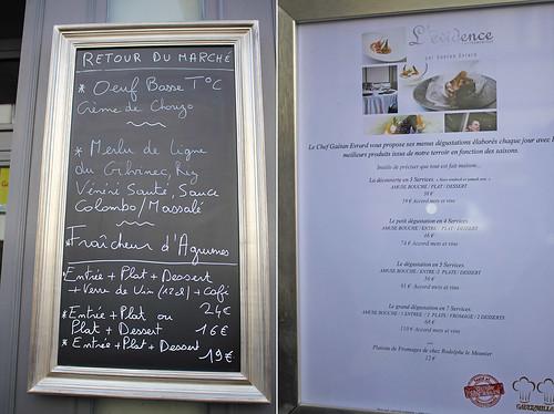 L' evidence Tours Restaurant