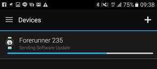 ผมสังเกตว่าการ Sync ของ Garmin Forerunner 235 ไม่ค่อยรวดเร็วซักเท่าไหร่