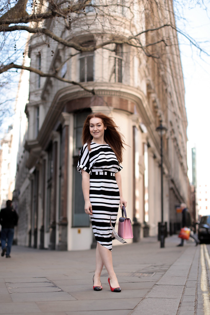 Asos black and white stripe work dress (3)