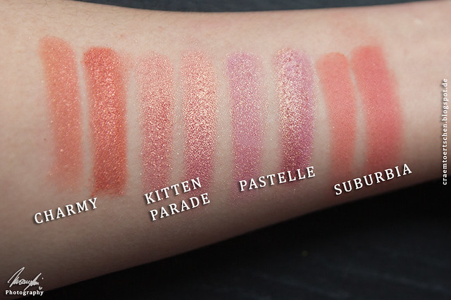 Peachy swatches
