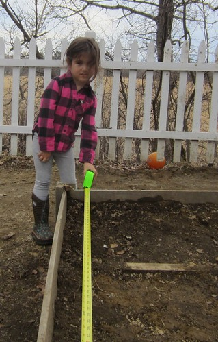 measuring the garden