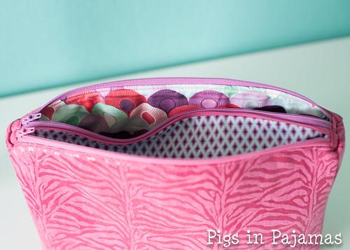 Sew Sweetness Filigree Double Zip Pouch