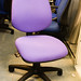 Purple swivel chair no arms
