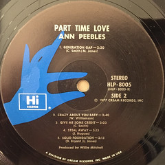 ANN PEEBLES:PART TIME LOVER(LABEL SIDE-B)