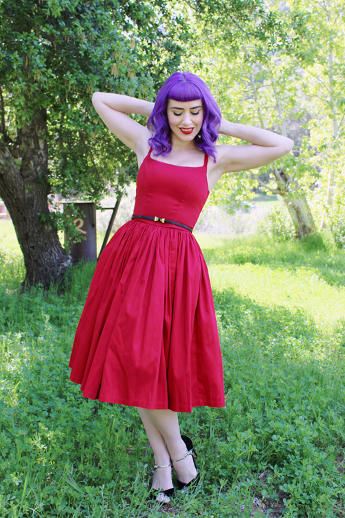 Pinup Girl Clothing Pinup Couture Jenny Dress in Red