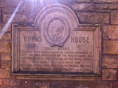 Photo of Robert Burns stone plaque