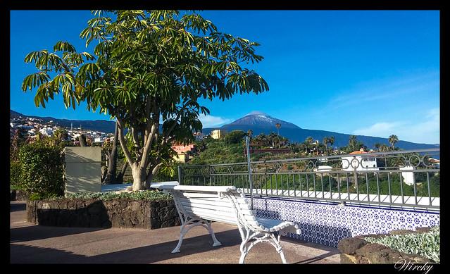 Tenerife Parque Nacional Teide Valle la Orotava - El Teide desde el hotel