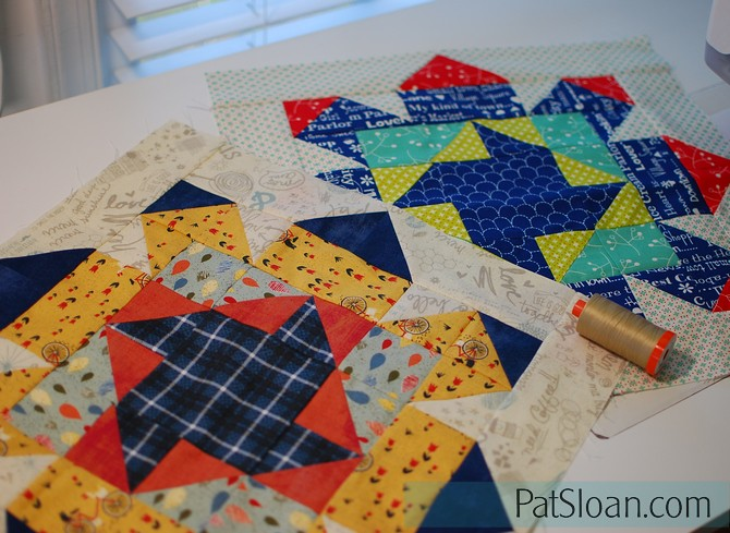pat sloan pieced with Aurifil