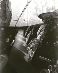 inside bus + outside bus Double exposure - Ilford pan 100 #filmneverdie #filmisnotdead #bw_photooftheday #bw #blackandwhite #bus #doubleexposure @theanalogueproject @art.film @film.tw @istillshootfilm_official