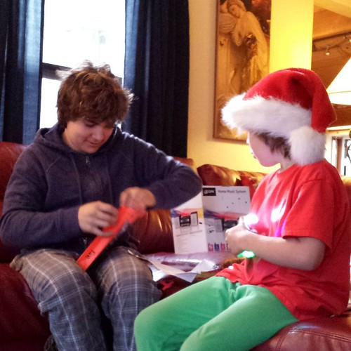 Astonished that Santa brought a tablet for our family