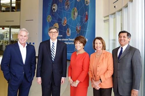 Congresswoman Pelosi Joins Treasury Secretary Lew Supporting myRA Retirement Savings