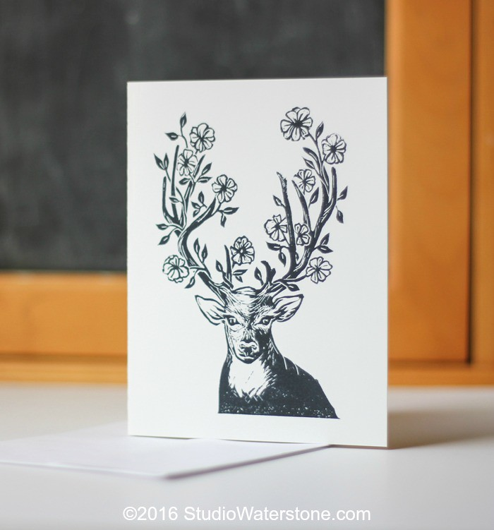 Oh Deer Card - Outside