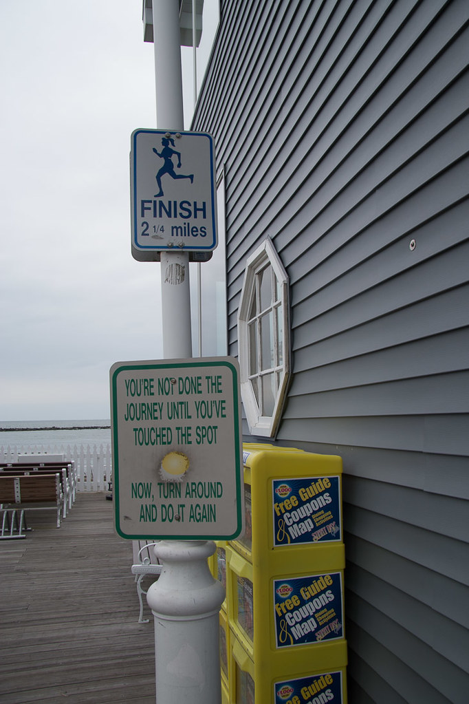 Finish line for Running at Ocean City Boardwalk