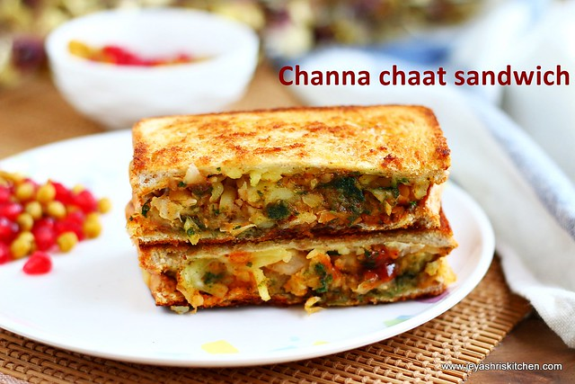 Aloo channa chaat sandwich