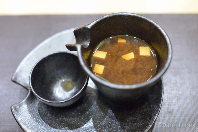 Red Miso Soup with Lobster