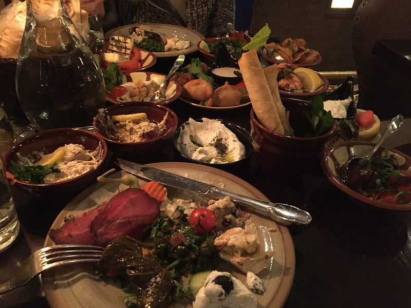 Libanesisk mat Tabbouli City Avsmakningsmeny