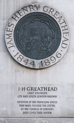 Photo of James Henry Greathead stone plaque