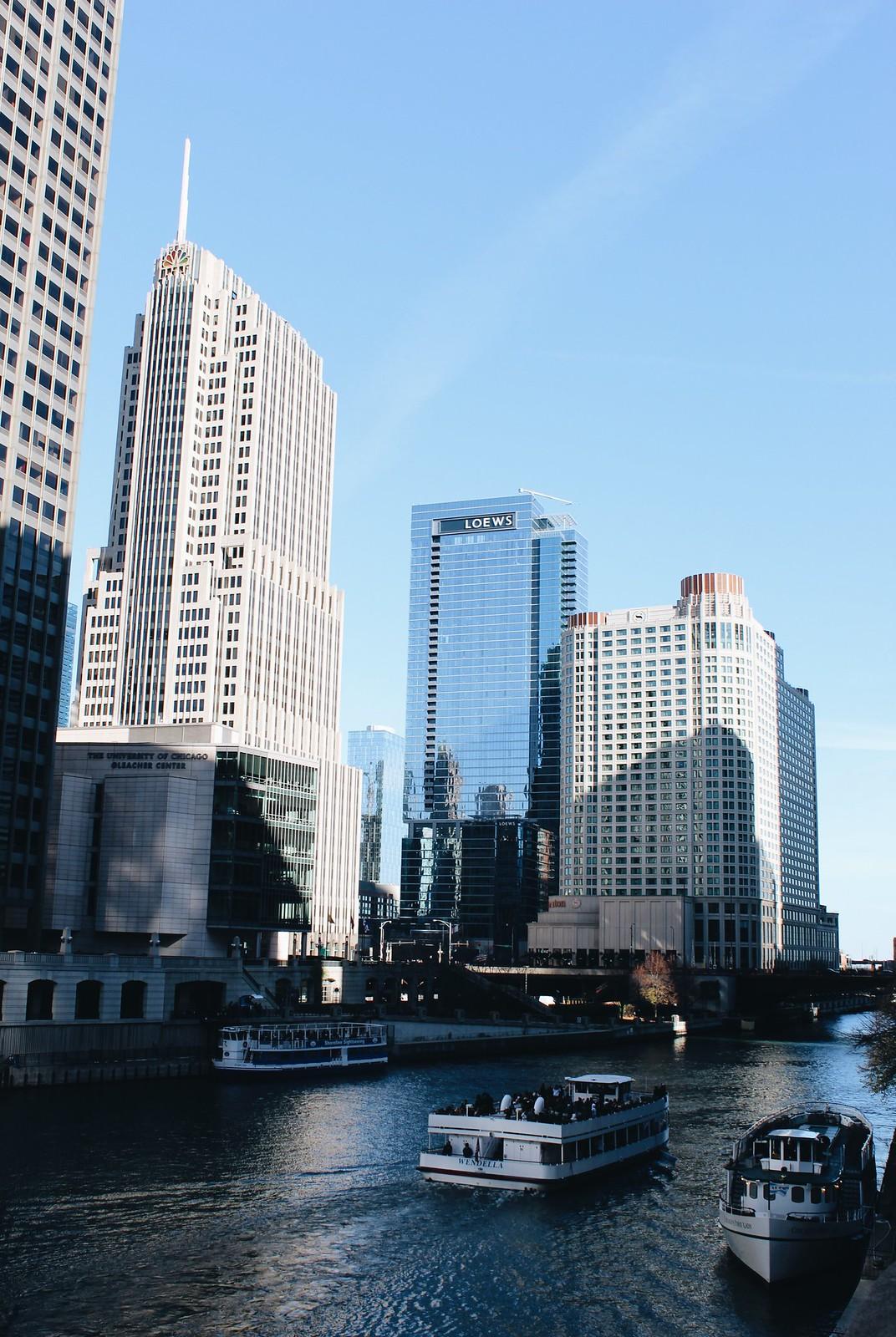 Chicago Gebäude und Fluss