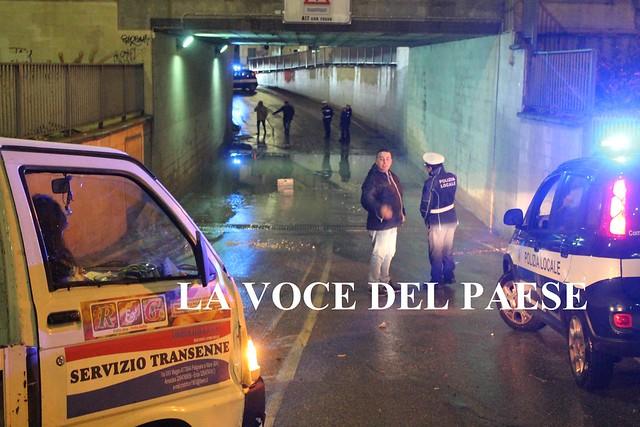 sottopasso pioggia polignano allagato via castellana polizia municipale vigili urbani 3