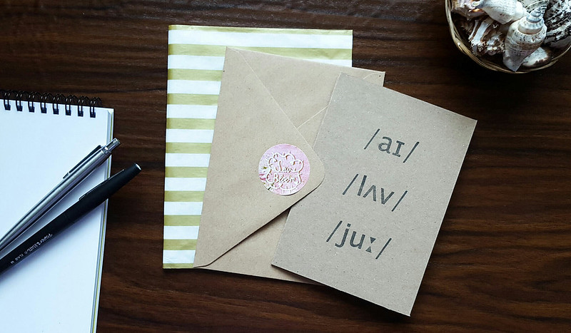 Hand-Stamped Phonetics Greeting Cards // Sew Bloom | Life of Kitty