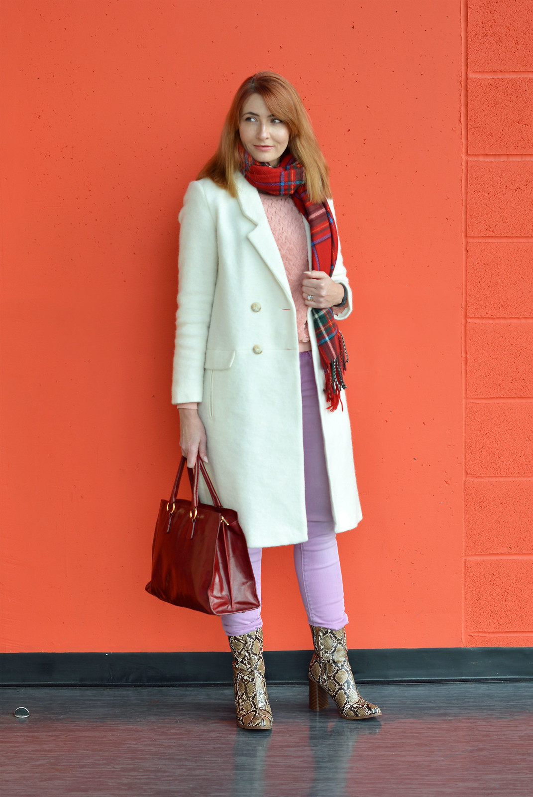 Winter brights of red, pink, lilac and white | Not Dressed As Lamb