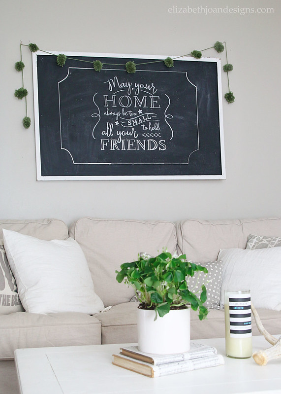 Neutral Living Room Chalkboard