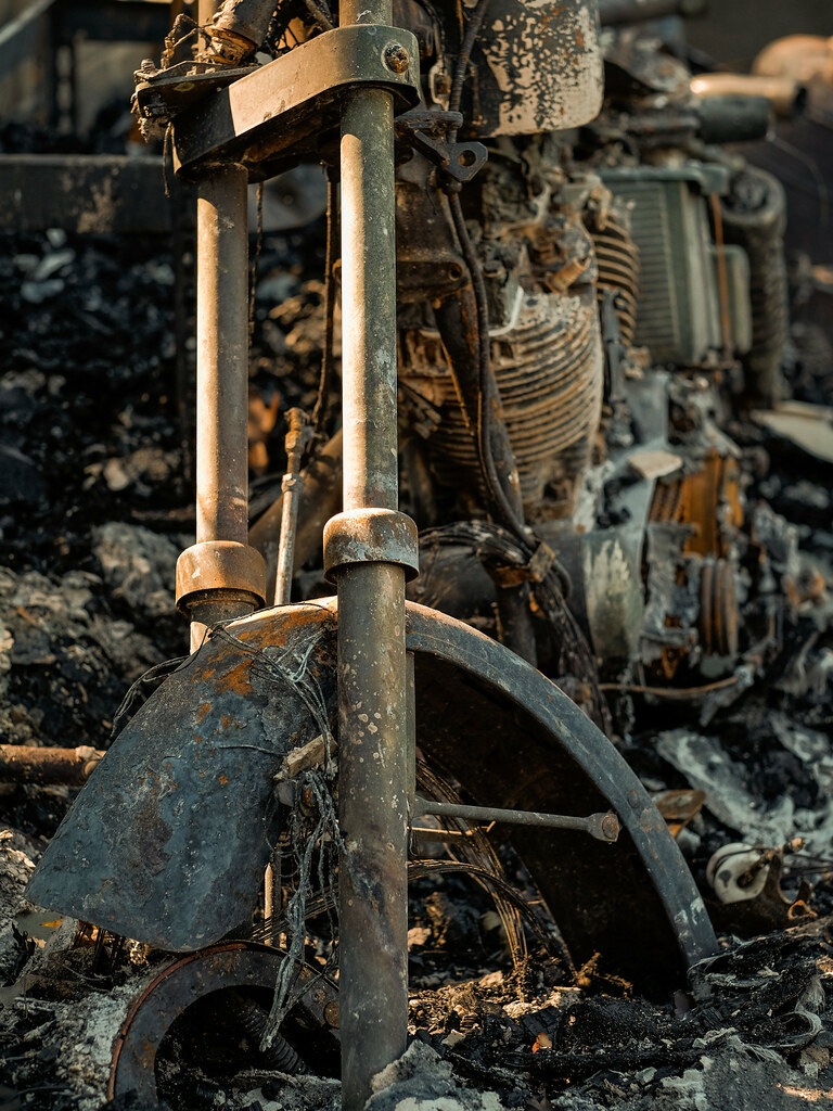 The Fire: Old Bike Burned