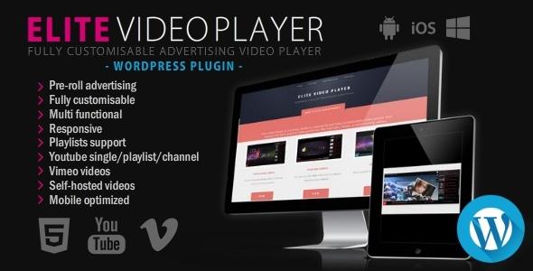 Codecanyon Elite Video Player v2.0.6 - WordPress plugin