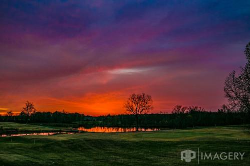sunset lake sunrise landscape pond kentucky ky golfcourse summit daviesscounty pearlclub