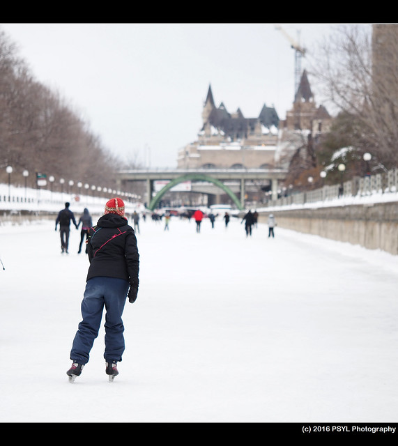 Skater on Rideau