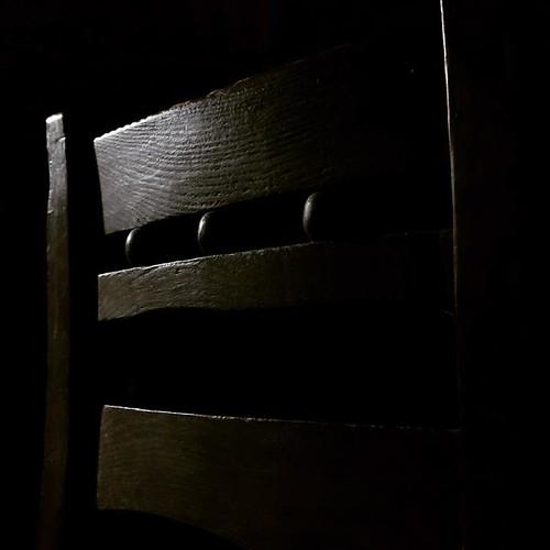 chair from behind #antique #chair #woodgrain