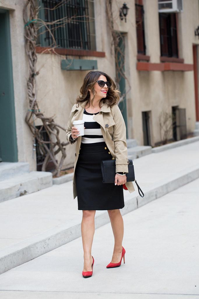Black and white stripes_Ann Taylor Skirt_7