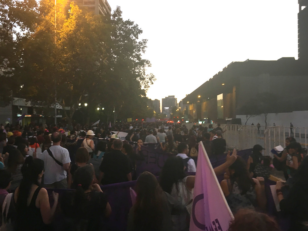 Dirigentes AFIICH participan en multitudinaria Marcha del 8 de Marzo - 8 Marzo 2016