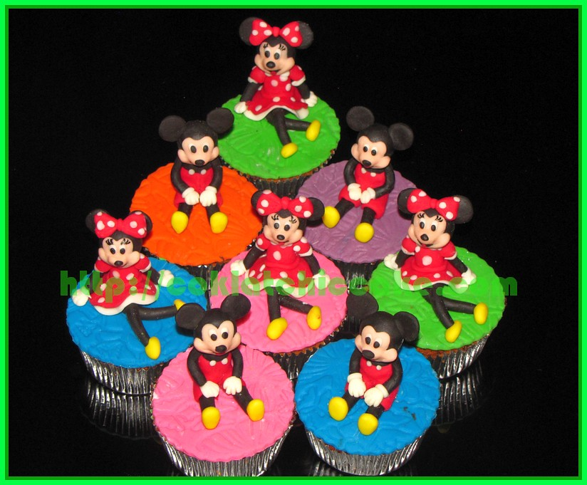 Cupcake 3D Mickey dan Minnie