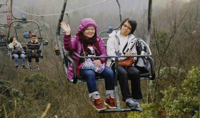 天門山的2人纜車