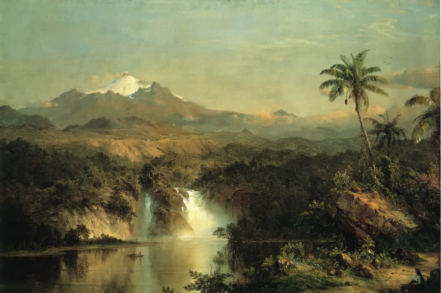 View of Cotopaxi by Frederic Edwin Church, 1857