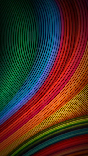 Stock Colorful Lines Curves Android Wallpaper