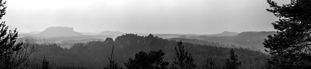 """View of the """"Schwarzfärbergrund"""" in """"Nationalpark Sächsische Schweiz"""""""